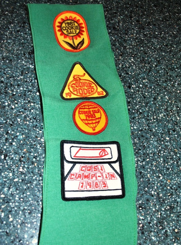 The back of my Girl Scout sash.