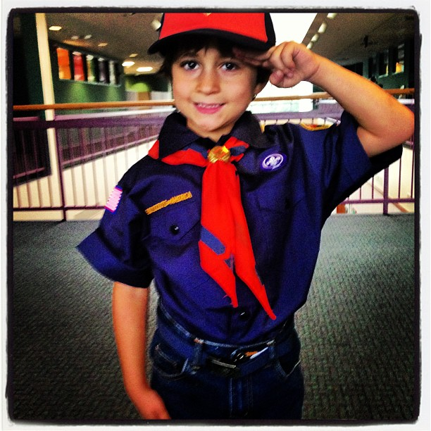 The cutest little Cub Scout ever!