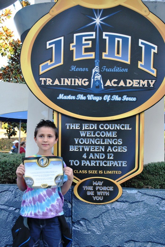 Training complete!  Here he is with certificate in hand!