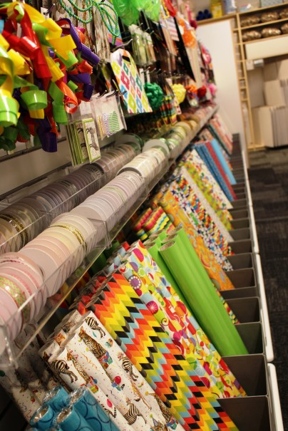 Rows of gift wrapping