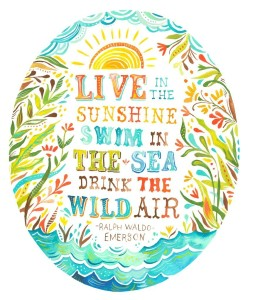 Ralph Waldo Emerson quote_illustrated by The Wheat Field on Etsy_via Mary Ruffle tumblr